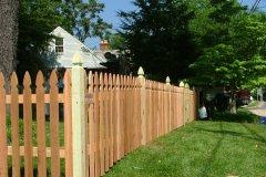#6 Cedar Colonial Gothic Fence