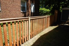 #11 Cedar Spaced Picket with Flat Top