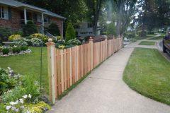 #15 Cedar Picket Fence with Dip