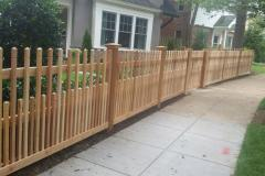 #19 Cedar 2x2 Picket Fence with Notch