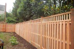 #30 Cedar 1x4 Board on Board Fence with 2x2 Lattice