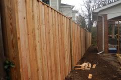 #28 Cedar Board and Batten Fence