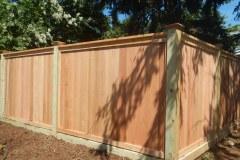 #29 Cedar Flatboard Fence with 6x6 Posts on Bottom