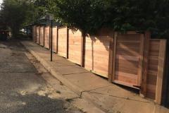 #31 Cedar Horizontal Fence with Gate