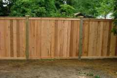#1 Cedar Flatboard Fence