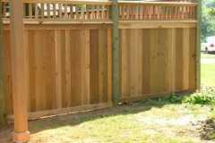 #5 Cedar Flatboard Fence with 2x2 Lattice