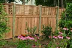 #7 Cedar Flatboard Fence with Square Lattice