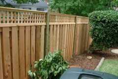 #18 Cedar Board on Board Fence with Square Lattice