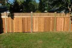 #6 Cedar Flatboard Fence with Square Lattice
