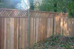 #8 Cedar Flatboard Fence with Diagonal Lattice