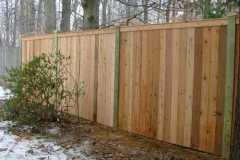 #2 Cedar Flatboard Fence