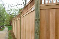 #4 Cedar Solid Board with 2x2 Lattice