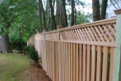 #15 Cedar Board on Board Fence with Diagonal Lattice