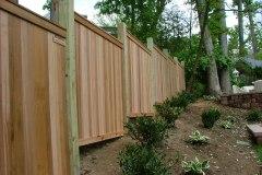 #3 Cedar FlatBoard Fence Stepped