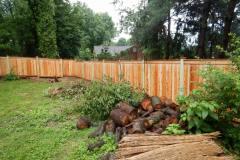#19 Cedar Flatboard Fence with Top & Bottom Face