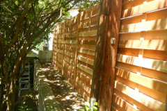 #22 Cedar Basket Weave Fence 6' High