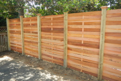 #23 Cedar Basket Weave Fence