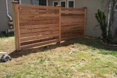 #32 Horizontal Cedar Fence