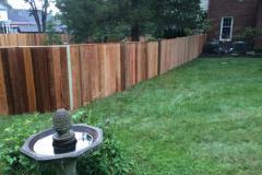 #26 1x6 Cedar Solid Board Fence with Cap Board