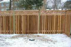 #14 Cedar Board on Board Fence with Diagonal Lattice