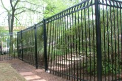 #3 Decorative Metal Fence with Rings
