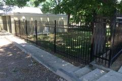 #8 Centurion 3 Rail Fence with Pointed Picket