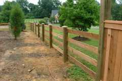 #4 Cedar Paddock Fence