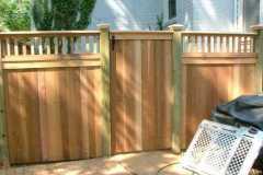 #3 Cedar Solid Board Gate with Flat Top