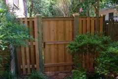 #4 Cedar Solid Board Gate with Runners