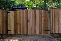 #2 Cedar Solid Board Double Leaf Gate