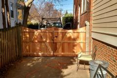 #29 Cedar Flatboard Fence Double Gate with A Frame