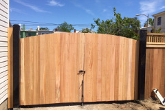 Cedar Flatboard Steel Framed Double Gate (Front View)