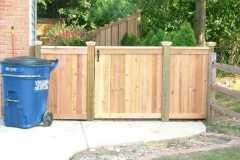 #18 Cedar Solid Board Fence and Gate