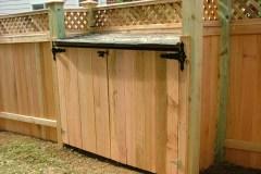 #14 Cedar Board Trash Enclosure