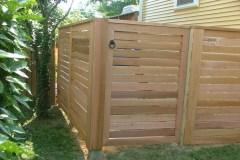 #7 Cedar Horizontal Spaced Board Gate