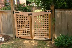 #10 Cedar Lattice Gate with Dip
