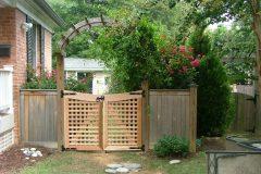 #9 Cedar Lattice Gate and Arbor