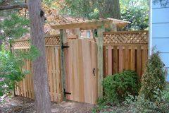 #12 Cedar Solid Board Gate with Arbor