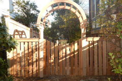 #30 Cedar 2 Post Halo Arbor with Double Walk Gate
