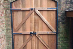 #29 Wood Gate on Metal Frame