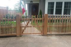 #26 2x2 Cedar Picket Custom Gate