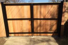 #25 Metal framed gate