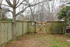 #1 Pine Spaced Picket with Flat Top