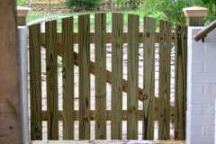 #5 Pressure Treated Pine Spaced Picket Fence