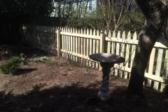 #9 1x4 Pine Gothic Spaced Picket Fence