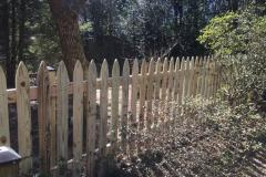 #10 1x4 Pine Gothic Spaced Picket Fence