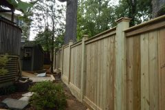 #17 1x4 Pine Fence with Top and Bottom Face Boards on 6x6 Posts