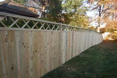 #18 1x6 Pine Flatboard fence with Criss Cross lattice
