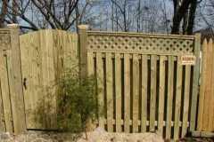 #12 Pressure Treated Pine Board on Board Fence with Lattice