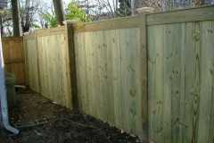 #1 Pressure Treated Pine Flatboard Fence With Face Board